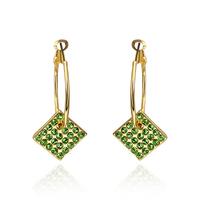 Fashion Woman Beautiful Crystal Jewelry Stud Earrings 18KGP Rose Gold Plated Rhinestone Stainless Steel Dangling Earring