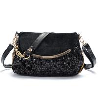 Bags women's handbag brief paillette bag vintage 2014 fashion color block all-match messenger bag female bag small chain bag