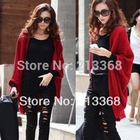 Free shipping Korean version of the classic Winter bat shawl sweater knit cardigan female coat #5476