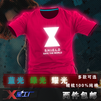 Short-sleeve T-shirt professional class service t-shirt light-emitting luminous t-shirt summer