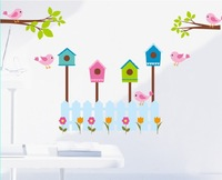 Free shipping!! JM7141 cartoon nursery wall sticker baby room wall stickers home wall decor 60*90cm