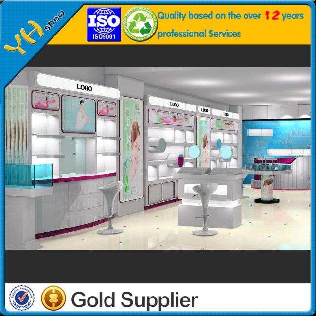 cosmetic shop interior design,retail/custom cosmetic display cabinet