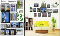 Free Shipping Family Picture Photo Frame Tree Wall Quote Art Stickers Vinyl Decals Home Decor Hot selling#L064