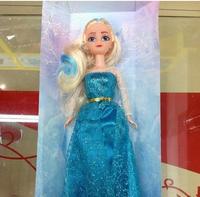 2014 Hot Sale Frozen Girls 30cm Frozen Queen Elsa Princess Anna Doll Platic Doll