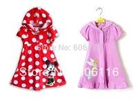 Retail Hot sale children swim coverup, Minnie / Mermaid / Sofia swimwear, kids / Girls Cartoon swimsuit/beach wear/swimming wear