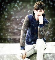 Men's Casual Hooded Fleece Jacket Fashionable Slim Young Sweatshirts