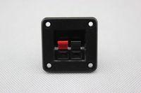 2PCS Audio Speaker Cabinet Gold Binding Post terminal box connector board 42*42