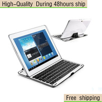 High Quality Ultra Thin Aluminum Wireless Bluetooth Keyboard For Samsung Galaxy Note 10.1 N8000 Free Shipping DHL UPS CPAM HKPAM