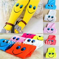 Children Clothing Wholesale 5pcs/lot,Cute Smile Pattern Clild's Trouser,Velvet Kid Pantihose,Girl Tights Mix Colors
