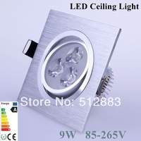 Cree Ultra Bright 9w Led Ceiling Light Modern Led Recessed Ceiling Lamp Spotlight AC85-265V Warm/Cool White 2 Years Warranty