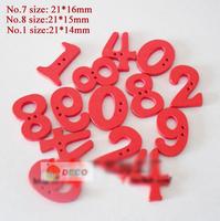 Min.order is $12(mix order button), Fancy number red wooden button,handmade buttons,scrapbooking,DIY buttons(ss-1276)