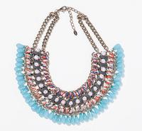 2014 New arrival fashion Unique vintage items z brand party luxury choker Necklace statement jewelry necklace & pendant  women