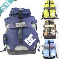 Limited edition double-shoulder skating package roller c backpack travel backpack wear-resistant c bag