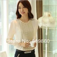women fashion lace Shirt ladies silm blouses plue size  free shipping