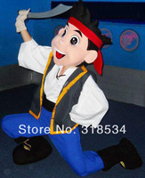PROFESSIONAL Jake Mascot Costume Adult Character Costume / Jake and the Neverland Pirates ,free shipping