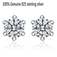 Luxurious Wholesale Genuine 925 sterling silver wedding fashion earrings jewelry for women ER20