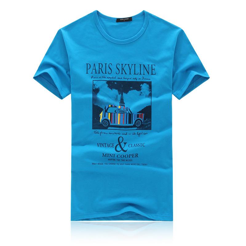 2014 Summer New Round Collar Printing Short Sleeve T Shirt
