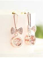 Fashionable Accessories lovely earbob Long eardrop bowknot earrings