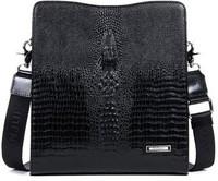 2014 crocodile pattern cowhide office man gift shoulder cross body bag men messenger bags genuine leather man bag 8751-3