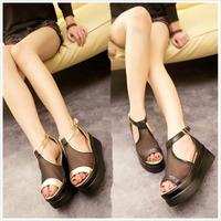 2014 summer sandals female flat gauze women's high shoes female shoes open toe flat heel shoes women's