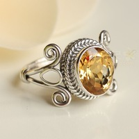 Free Shipping Prepared to spend twisted vintage fashion big high quality yellow crystal ring