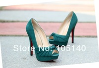 black green white 2014 sandals for women summer red sole shoes woman platform pumps fashion party sexy thin high heels