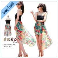 2014 New Chiffon skirt dress stitching irregular piece skirt bikini cover large sea bohemian, women summer dresses beach dress .