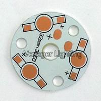 LED 3W aluminum substrate 3*1W bulb lamp aluminum substrate circuit board lamp bases 100pcs/lots