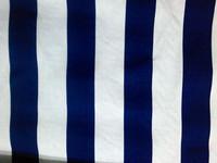 100% cotton canvas fabric / sofa / curtain / DIY / blue and white striped wallpaper
