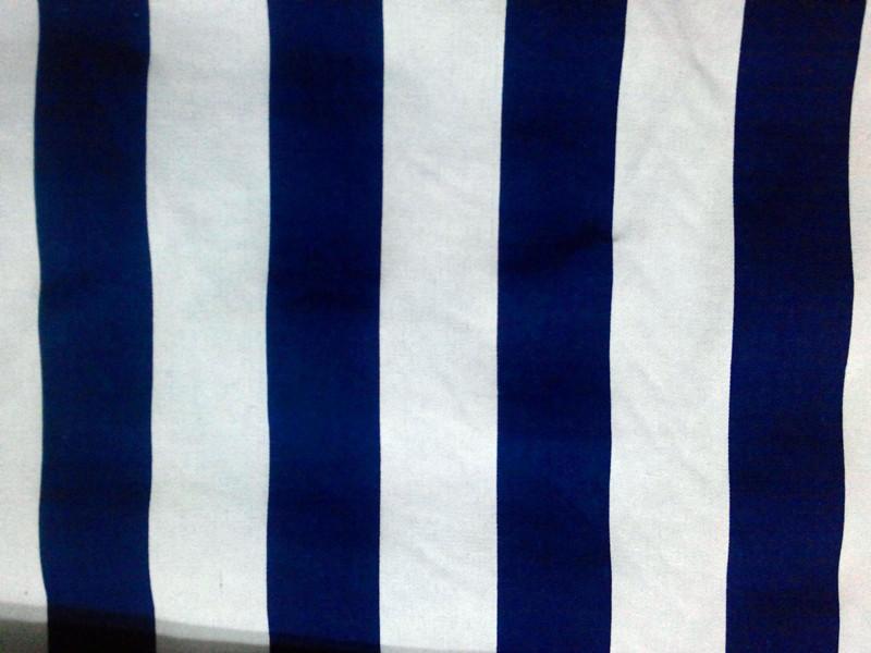 Blau Weiss Gestreifte Tapeten : Striped Fabric Shower Curtains