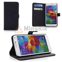 1Pc Classic Nubuck PU Leather Wallet Folio Case Cover For Samsung Galaxy S5 SV SV I9600+Free Shipping