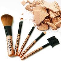 Professional makeup brush 5 set super-soft wool portable make-up tools