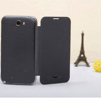 2014 For Samsung Galaxy Note 2 N7100 Battery Housing Cover flip leather case Free shipping 10pcs/lot