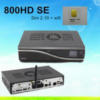 Hote sale DM800se HD satellite receiver DM 800SE Sunray4 set top box dm 800 se BCM4505 turner with wifi inside Free Shipping