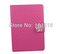 Free shipping&80PCS/Lot  Camellia Card Wallet Crystal Diamond Sheep Leather Case Cover For  Apple iPad Air 5