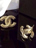 Free shipping two C gold silverFashion simple pearl earrings wholesale  Stud Earrings Xmas jewelry Ear studs