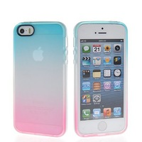 Gradient Flexible Soft Gel Tpu Silicone Skin Slim Back Case Cover For Apple iPhone 5 5G 5S