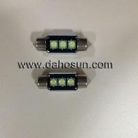 10X 12V No polarity CANBUS 36mm Festoon 3 CREE leds C5W