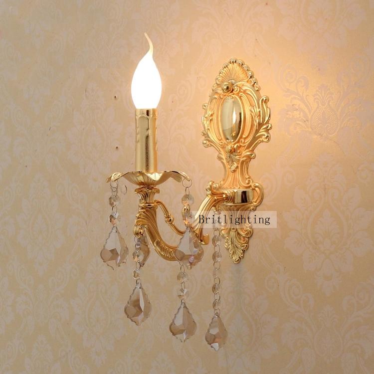Led applique murale lampe en cristal accueil led appliques - Applique bougie murale ...