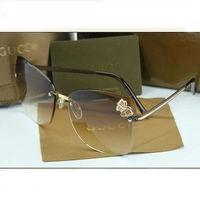 Sell like hot cakes In 2014 the new style Female diamond sunglasses frameless elegant butterfly sun glasses free shipping