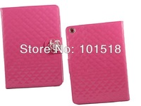 Free shipping&30PCS/Lot  Camellia Card Wallet Crystal Diamond Shine Leather Case Cover For  Apple iPad Air 5