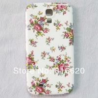 1 x Cute White Cherry Flower Hard Back Skin Case for Samsung Galaxy S4 IV I9500 I9505