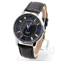 Wholesale men wristwatches fashion quartz watch leather strap watches men FS161