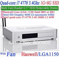 Quad Core i7 4770 3.4Ghz pc computers with haswell LGA 1150 Intel HD Graphic 4600 64 bit processor 1G RAM 8G SSD Windows Linux