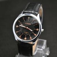 sale 3 colors High Quality Leather Strap Casual Watch Men Fashion Sports Quartz Wrist Analog Watch londa-11