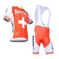 2014 outdoor sportwear ropa ciclismo  Men's Red BMC Cycling Wear bike apparel clothing wear t-shirts jersey +bib shorts set