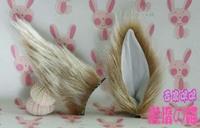 Cosplay silver fox ear the ear hair accessory