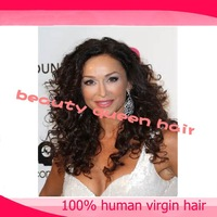 Hot saleing curly full lace wig & wig with baby hair free shipping