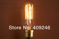 10PCS T45 Fireworks Circle Marconi Smoked Light Bulb Lamp Vintage Edison Reproduction 40 Watt 60 Watt Clear Glass E27 AC220V