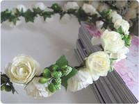 Garishness bride christmas hair accessory halo hand ring adjustable wedding garland